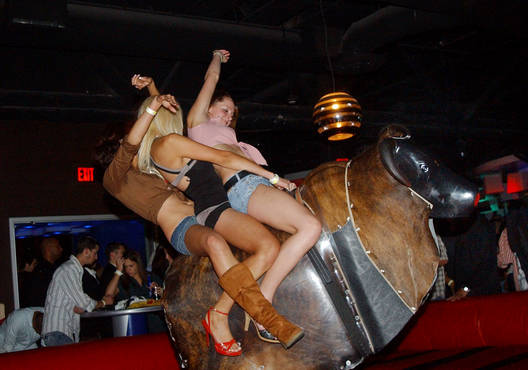 Nude on mechanical bull fav