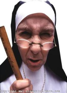 Nun with Ruler